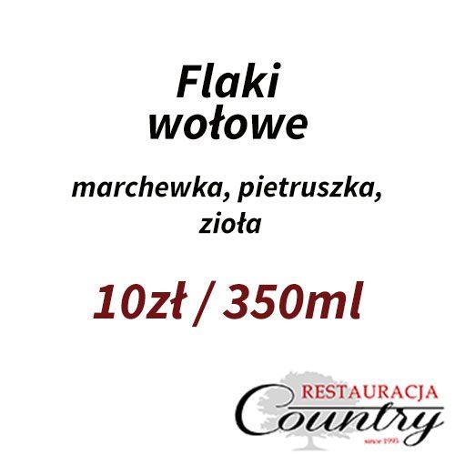 Flaki wołowe / marchewka, pietruszka, zioła 10zł  /  350ml